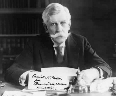 "Supreme Court Justice Oliver Wendell Holmes, who said ""It is better for all the world, if instead of waiting to execute degenerate offspring for crime or to let them starve for their imbecility, society can prevent those who are manifestly unfit from continuing their kind."""