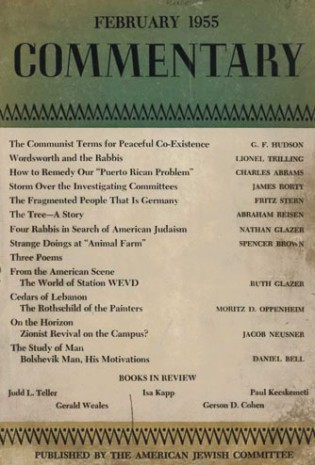 Benjamin Freedman was attacked by the Jewish establishment, as in this issue of the American Jewish Committee's Commentary magazine