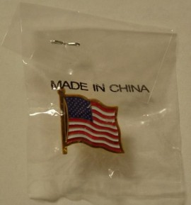 """Patriotic"" Pin, made in China"