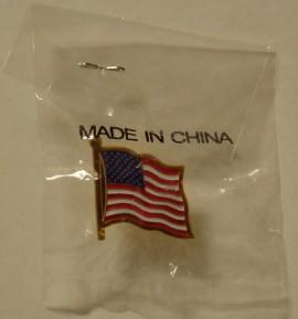 """""""Patriotic"""" Pin, made in China"""