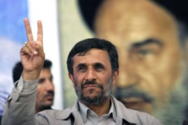 Iran's President Ahmadinejad flashes a victory sign after a victory before which even Western polls showed him winning two to one. What is the real source of the post-election chaos?