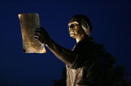 James Madison and the Constitution, portrayed in a sculpture at James Madison University in Harrisonburg, Virginia