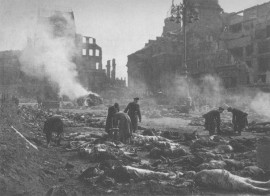 "The bodies are counted just after Valentine's Day, 1945, in the aftermath of the Dresden Holocaust. American author Kurt Vonnegut was there. Emerging from a shelter into the smoldering ashes of the firebombed city of civilians and refugees, he told a fellow survivor ""I'll never trust my government again."""